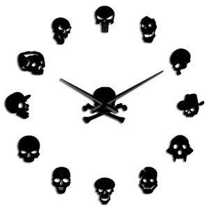 Skull Heads Giant Wall Clock